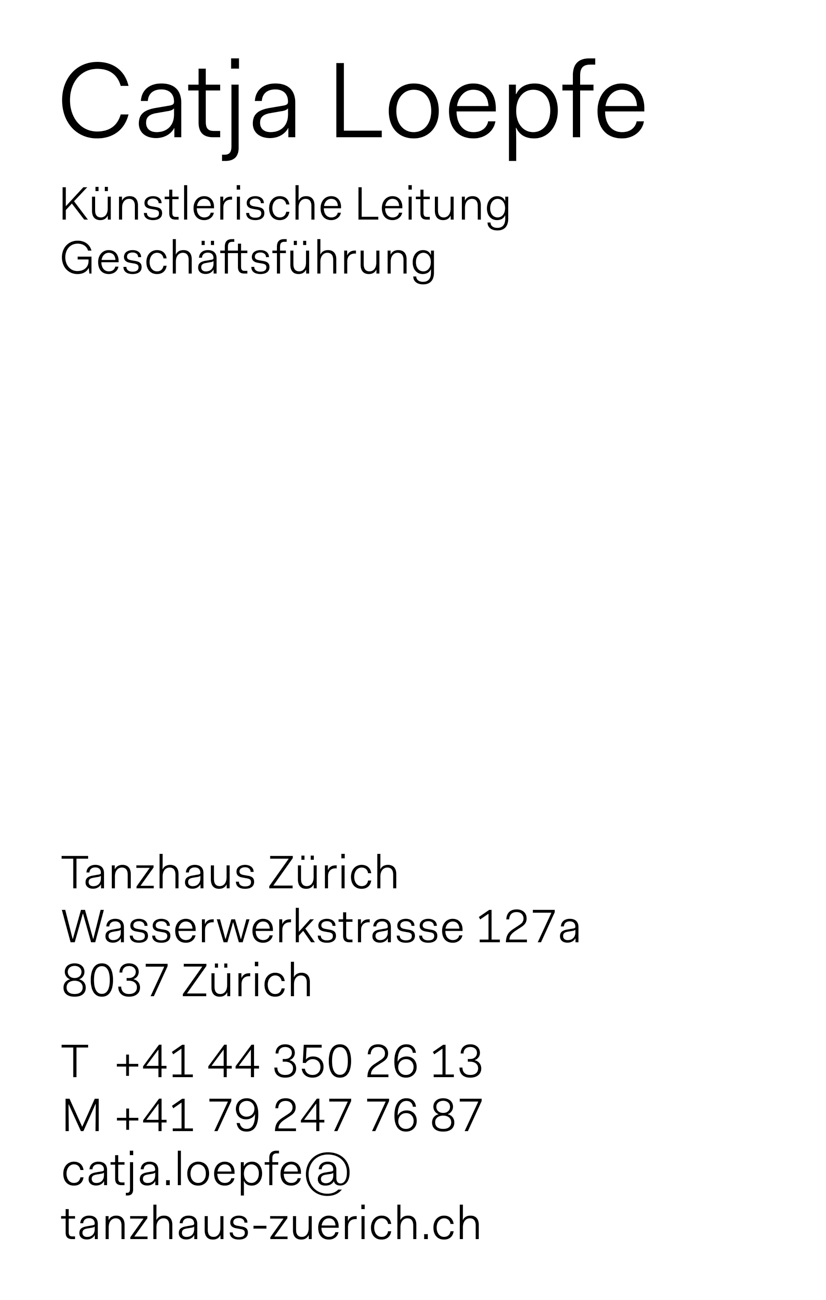 Tanzhaus Zürich TDC ECV